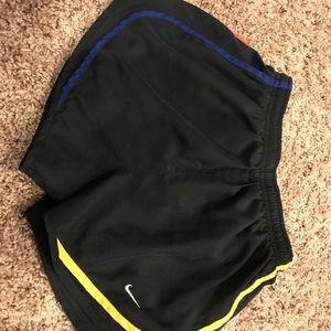 Black multi color nike shorts